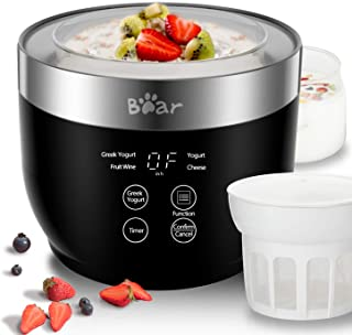 Yogurt Maker, Yogurt Maker Machine with Stainless Steel Inner Pot, Greek Yogurt Maker with Timer Control, Automatic Digita...
