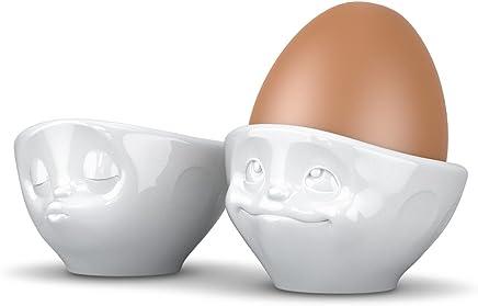 Preisvergleich für Fiftyeight Eierbecher Set KÜSSEND & VERTRÄUMT / weiß