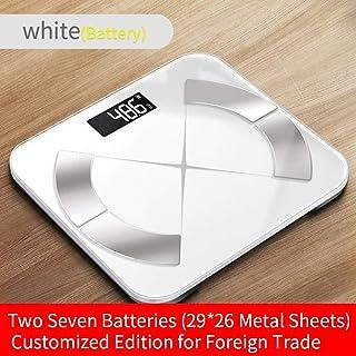 Básculas Digitales De Baño Body Fat Scale Floor Scientific Smart Electronic Led Peso Digital Balance De Baño Bluetooth App Android O Ios Batería Energía Blanco
