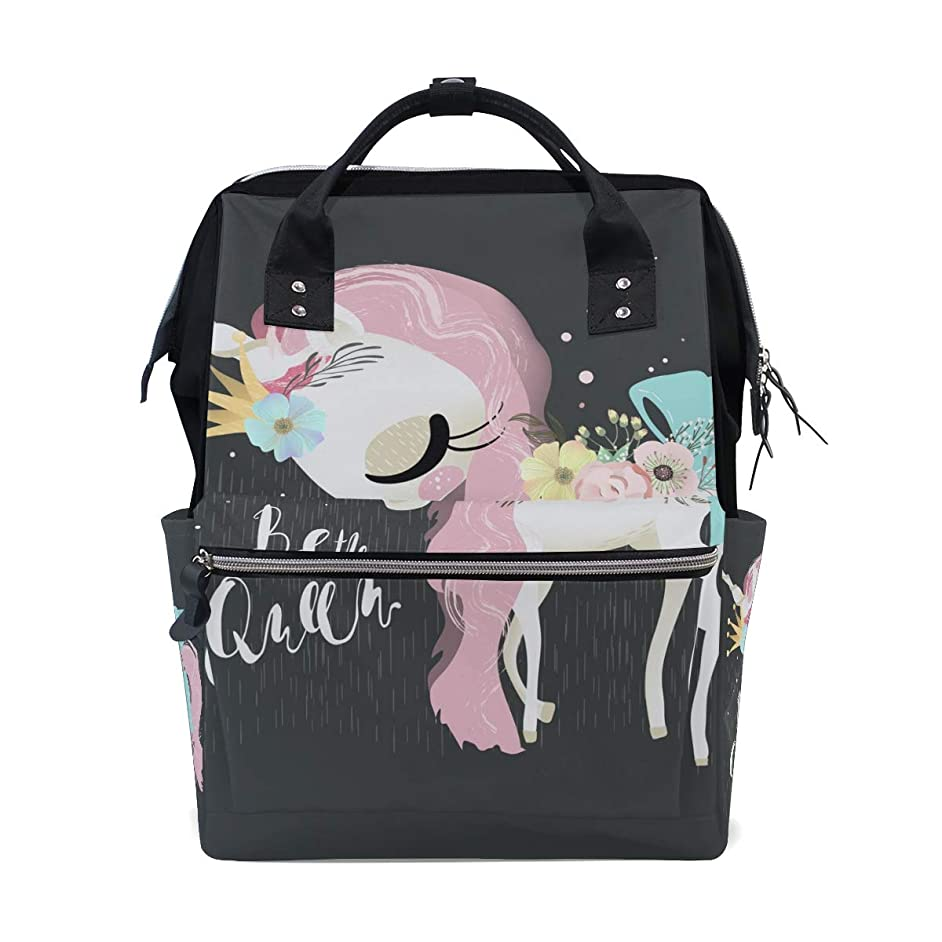 Be Queen Unicorn School Backpack Large Capacity Mummy Bags Laptop Handbag Casual Travel Rucksack Satchel For Women Men Adult Teen Children