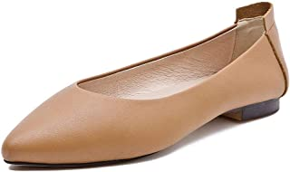 BLUMEN Women Flat Shoes Slip On Extremely Soft Caramel