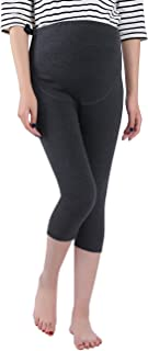 Foucome Women's Over The Belly Super Soft Support Maternity Capri Leggings