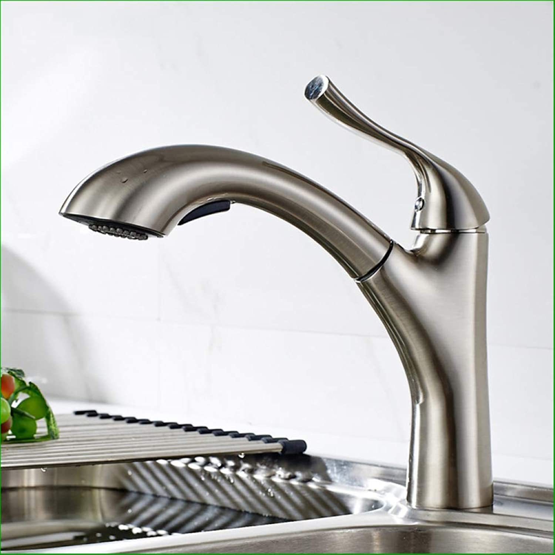 LPW Wasserhahn Alles Kupfer Nickel Küche Waschbecken ziehen Wasserhahn drehbar heies und kaltes Wasser Waschbecken Wasserhahn