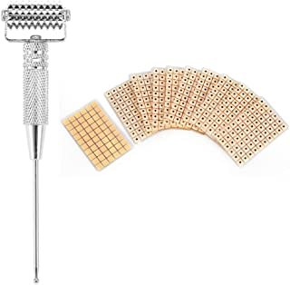Ear Points Detector Probe Acupuncture Massage Roller + 600Pcs Disposable Ear Acupoints Beads Massage Stickers (Silver)