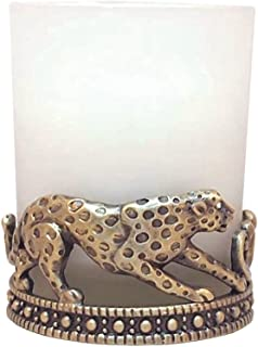 All For Giving Cheetah Votive Candle, Brass