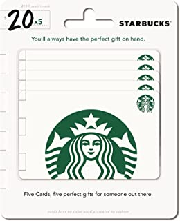Starbucks Gift Cards, Multipack of 5
