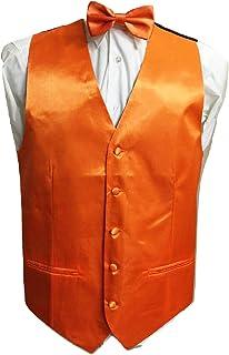 L&L® Kid Children Boy Satin Waistcoat Vest + Matching Bowtie Set for Suit Wedding