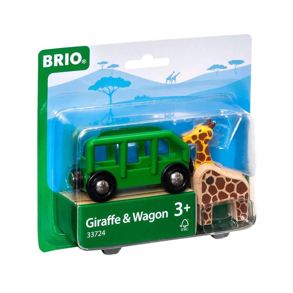 BRIO 33724 Giraffe and Wagon