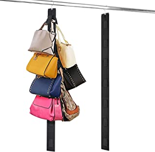 Relavel Hanging Purse Organizer Handbag Rack For Closet Storage Holder for Purses Handbags with Hook