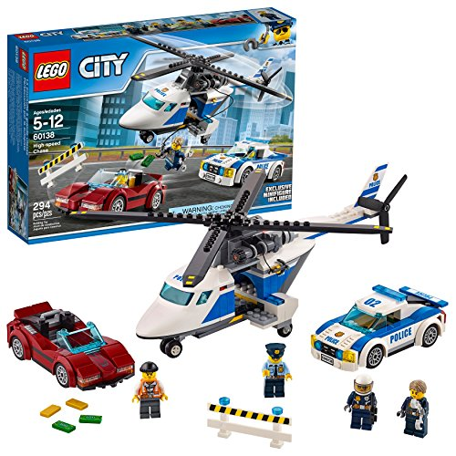 Product Image of the LEGO City Police High-Speed Chase 60138 Building Toy with Cop Car, Police...