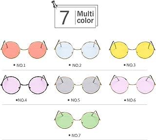ビンテージサングラス-丸型メタルフレーム多色レンズ (Color : NO.1)
