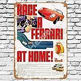 1965 Ferrari Slot Car Racing Cartel de chapa de metal pintado decoración de pared moderna sala de juegos reglas de la casa cartel de arte de cartel de calle de metal