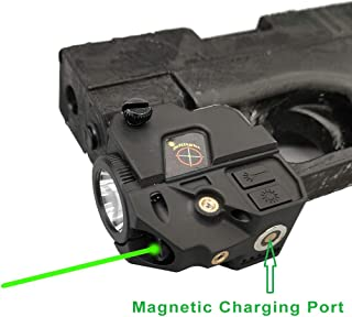 Infilight Green Flashlight Laser Sight, Original Manufacturer Compact Green Laser Dot Sight Scope Adjustable Low Profile Picatinny Rail Mount Laser Sight Pistols & Handguns Less Than 5mw