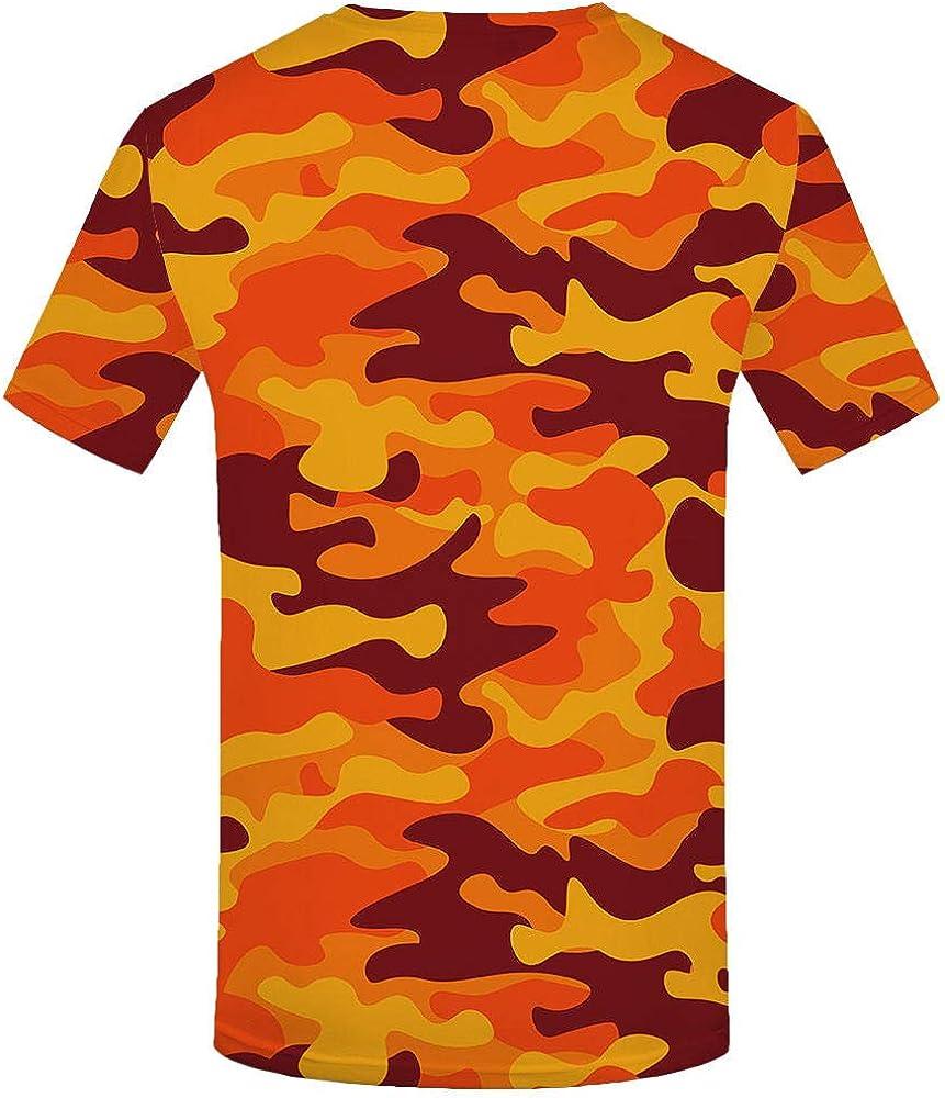 Luotears Camiseta 3D Camuflaje Camisa roja Hombre Ropa Casual ...