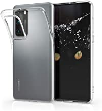 kwmobile Crystal Case Compatible with Huawei P40 - Soft Flexible TPU Silicone Protective Cover - Transparent