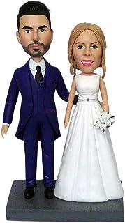 cake topper personalizzati regali di nozze idee per figurine coppia amore statuette bambole bambolina personalizzati mini ...