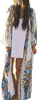 MEILING Women's Chiffon Bathing Suit Bikini Swimsuit Cover up Swimwear Beach Dress Long Kimono Cardigan Jacket Robe