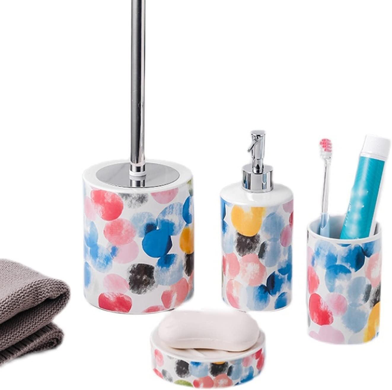Soap Max 86% OFF Finally popular brand Dispenser Bottle Lotion Dot Pattern Ceram Rainbow
