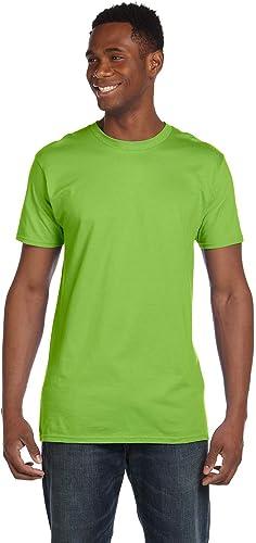 4980 Lot de 2 t-Shirts pour Hommes Nano 1 Noir + 1 Citron Vert 3XL