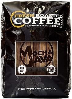 Fresh Roasted Coffee LLC, Mocha Java Coffee, Artisan Blend, Medium Roast, Whole Bean, 5 Pound Bag