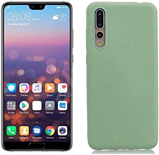 Case Matte plastic Smooth, Soft flexible, Candy Colors TPU Cover for Huawei P20 Pro (Army Green)