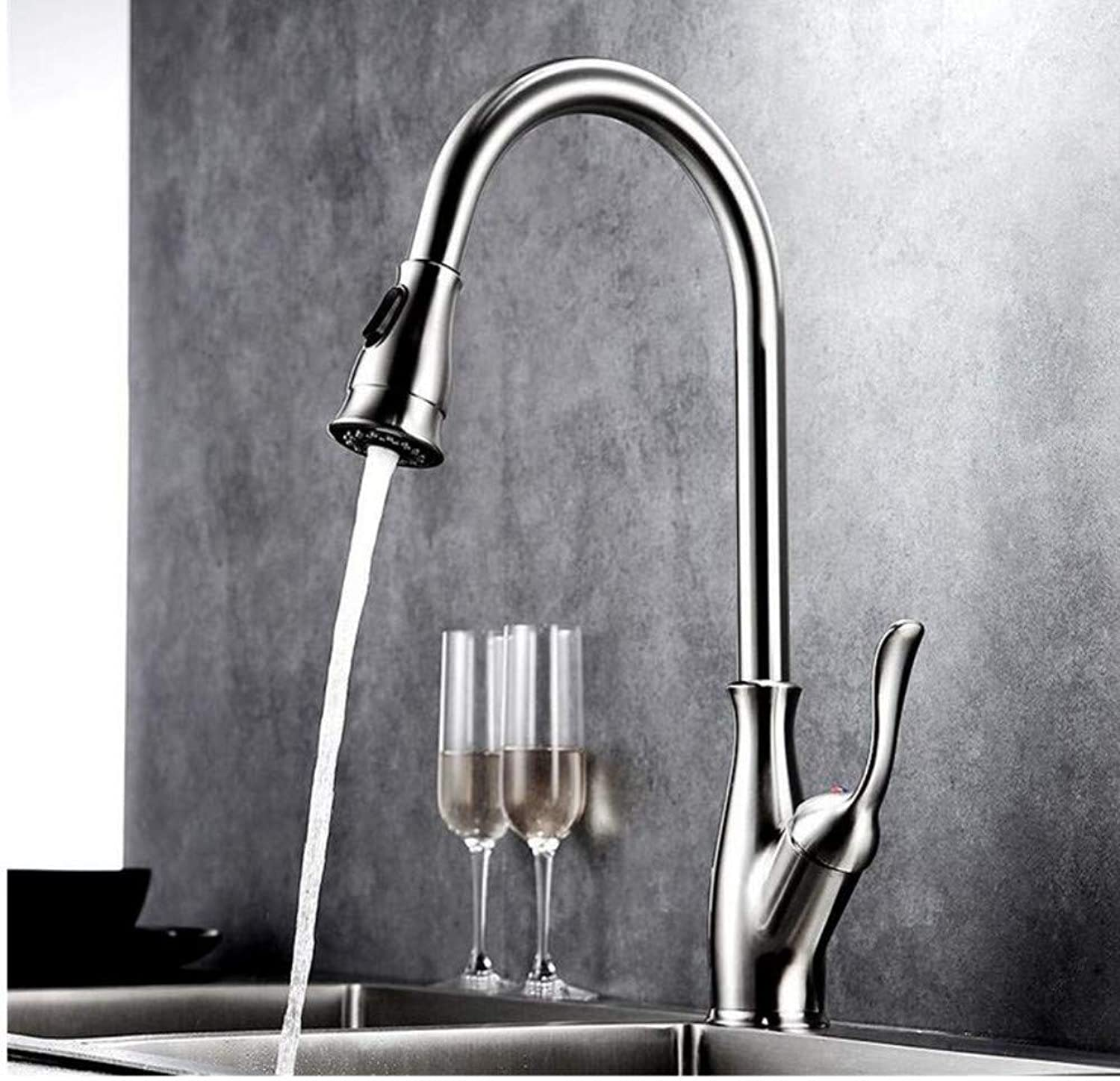 Faucet Lead-Free Square Innovation Faucet Solid Brass Mixer Single Handle Water Mixer Tap Cold Hot
