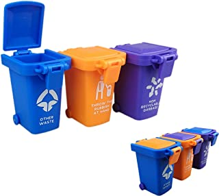 Nuanmu Trash Can Toy Kids Push Toy Vehicles Garbage Can