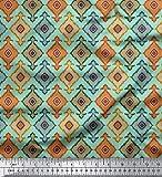 Soimoi Ikat Printed 44 Zoll breit Reine Seide Fabric 20 GSM