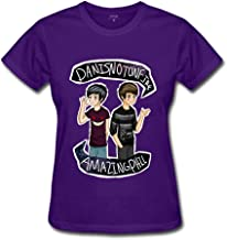 Women's Amazing Phil and Dan is not on fire 100% Cotton Short Sleeve T Shirt