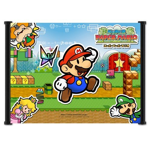 Super Paper Mario Wii Game Stoffwandposter (53 x 41 cm)