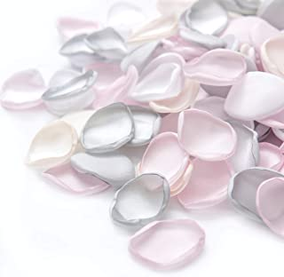 Ling's moment Artificial Flowers Silk Rose Petals 200PCS Flower Girl Scatter Petals for Wedding Aisle Centerpieces Table Confetti Party Favors Home Decoration Pink Wedding