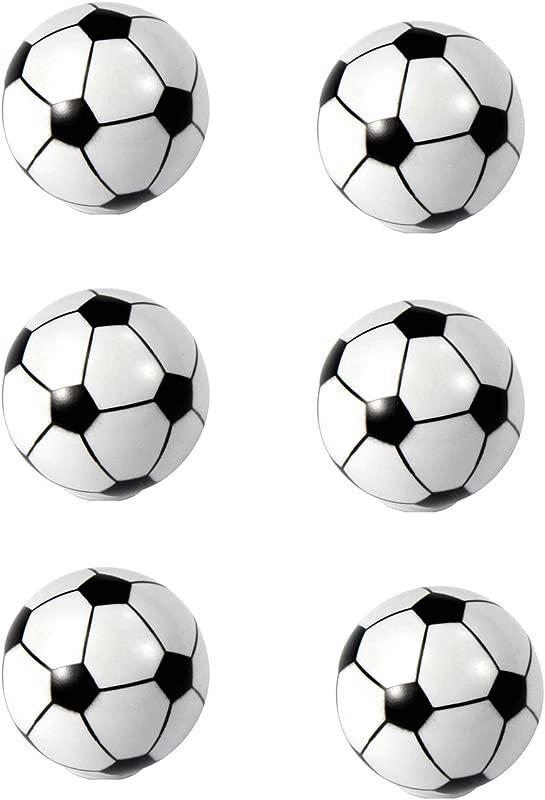 HozYi Set Of 6 Football Soccer Cabinet Drawer Door Knobs Handles Boy Child Dresser Drawer Pulls Desk Handles Sports Nursery Home Bath Decor Soccer
