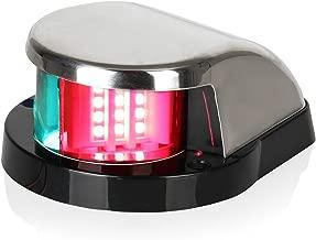 LEANINGTECH Boat Marine LED Navigation Lights Marine Navigation Lamp, Red and Green LED for Boat Pontoon Yacht Skeeter …