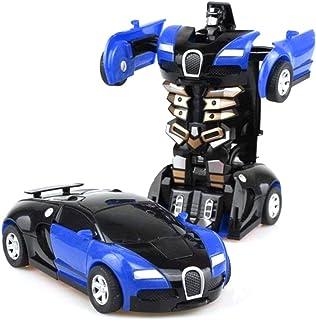 Dan&Dre Transformers leksaker fjärrkontroll transformator bil 2 i 1, robotbil transformator barnleksak småbarn bilrobotar ...