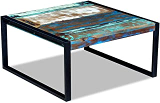 Festnight Reclaimed Wood Square Coffee Side Table Solid, 31.5