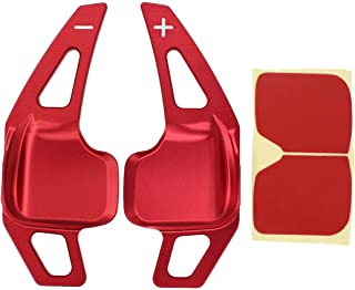 XtremeAmazing Red Aluminum Metal Steering Wheel Paddle Shifter Extensions