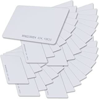 0.8mm Blank ID Card for Door Entry Access Control System and Attendance Read only 30 pcs Meipire 125Khz RFID Proximity Cards