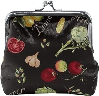 Lemon, Tomato, Garlic Women'S Wallet Buckle Coin Purses Pouch Kiss-lock Change Travel Makeup Wallets
