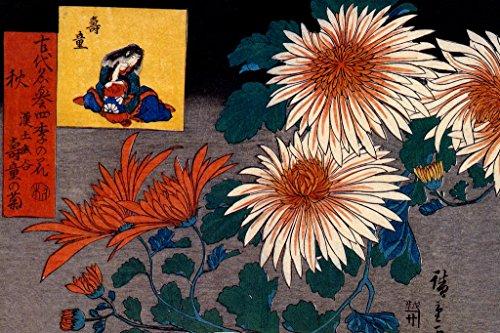 Utagawa Hiroshige Autumn Flowers Japanese Woodblock Print Asian Art Cool Wall Decor Art Print Poster 12x18