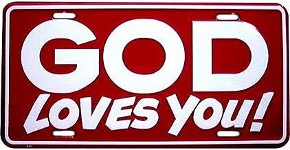 لافتات 4مرح slj11God Loves You لوحة ترخيص