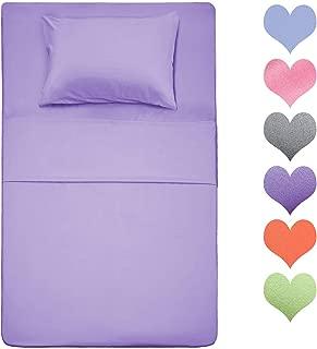 Best Season 400 Thread Count Cotton Twin Size Sheet Set (Lavender Color) 3 Piece - 100% Long Staple Cotton Sheets Set, Soft Cotton Bed Sheets Sets with Deep Pocket fit Up to 16 inch