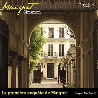 La première enquête de Maigret audiobook cover art
