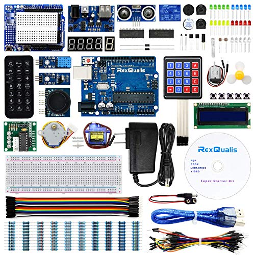 REXQualis Súper kit de inicio based on Arduino UNO R3 with Spanish Tutorial and Controller Board Compatible with Arduino IDE