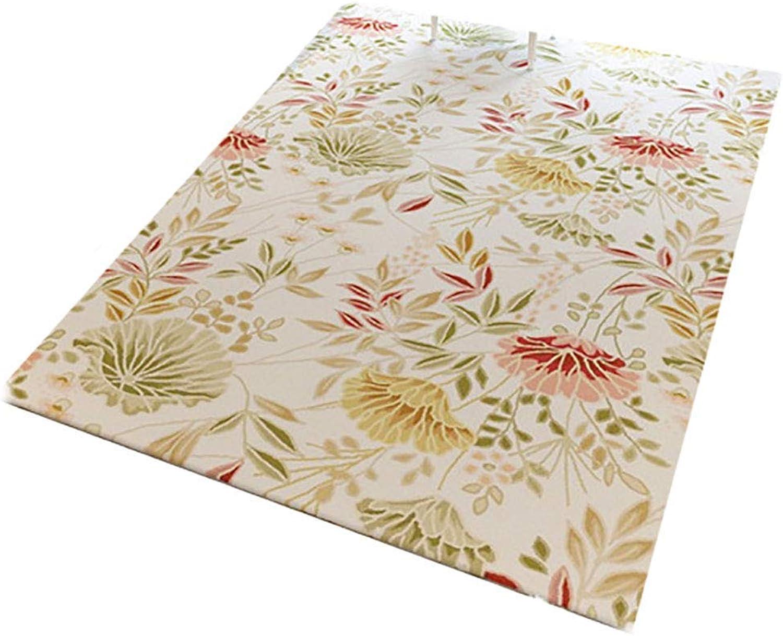 Royare Home Decorations mat Rugs for Living Room Short Velvet Area Rectangular Washable Modern Nordic American Pastoral Carpets (Size   120X160cm)