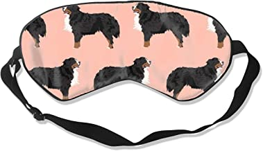 Bernese Mountain Dog Peach Blush Dog Dog Breed Ber 100% Silk Sleep Mask Comfortable Non-Toxic, Odorless and Harmless,Soft Blindfold Eye Mask Good for Travel and Sleep