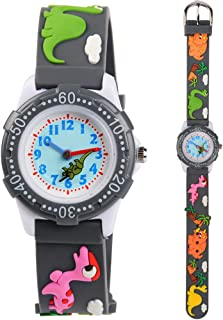 Kids Watches 3D Cute Cartoon Waterproof Silicone Children Toddler Wrist Watch Time Teacher Birthday Gift for 3-10 Year Girls Little Child