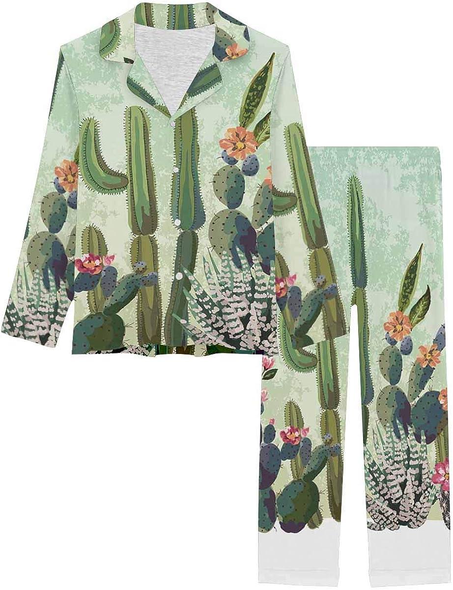 InterestPrint Long Classic Sleeve Loungewear Notch Su Sales of SALE items from new works Pj Collar Set Cute
