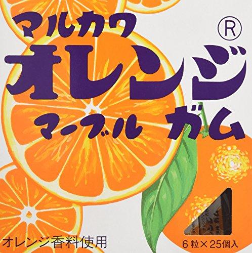 丸川製菓 ビッグサイズオレンジガム 6粒×25個