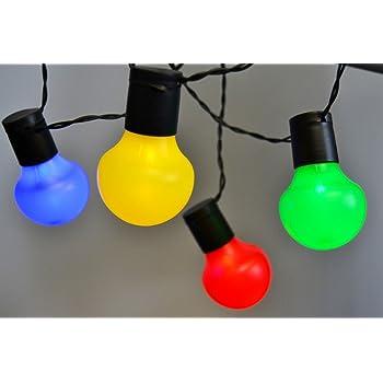 Partylichterkette Gartenlampe bunt LED Kugeln Dekorationsbeleuchtung 230V