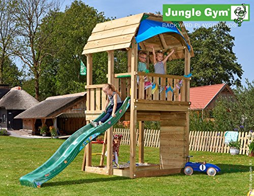 JUNGLE GYM Spielturm Jungle Barn, Gesamtmaße (B/T/H): 210/380/320 cm